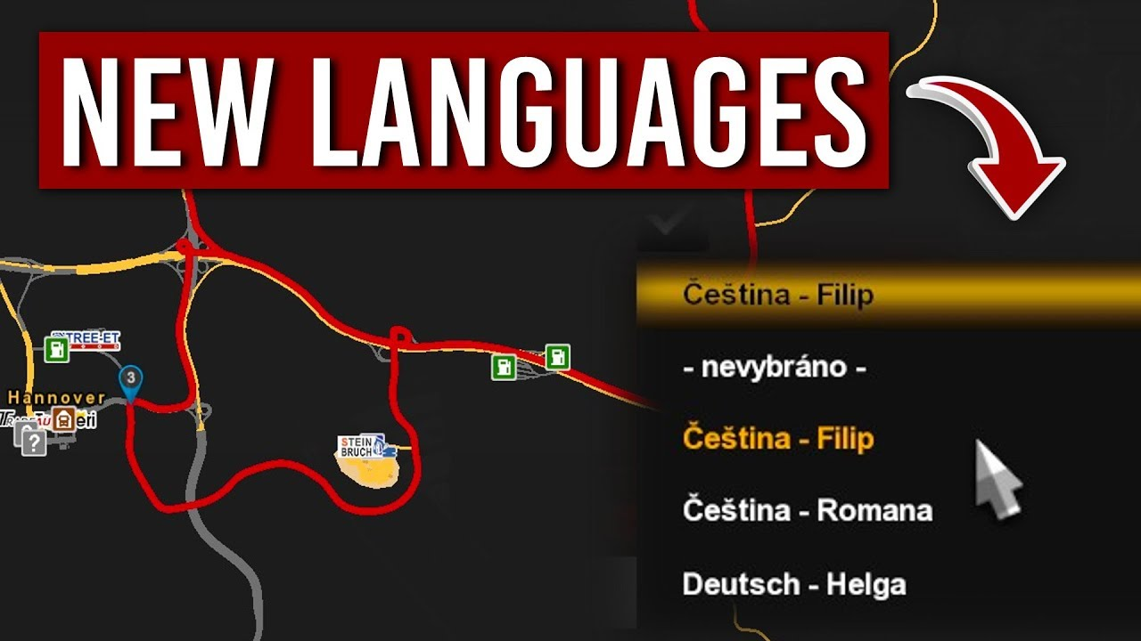 New languages for Voice Navigation GPS in ETS2