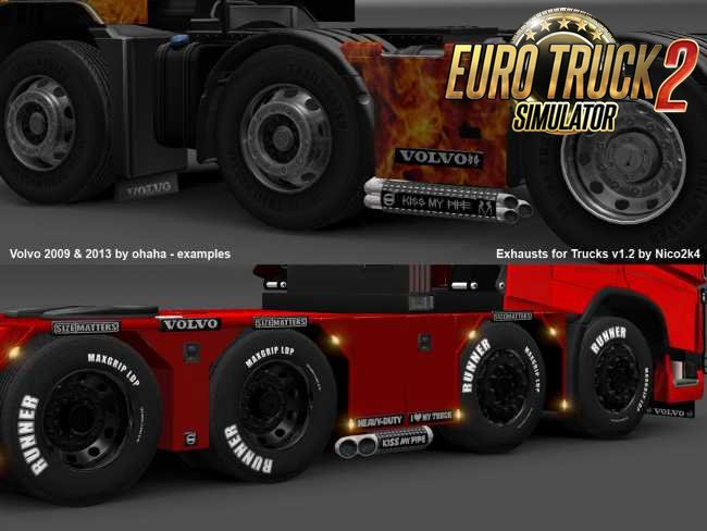Exhausts & Accessories for Trucks v2.0 (1.35.x) for ETS2