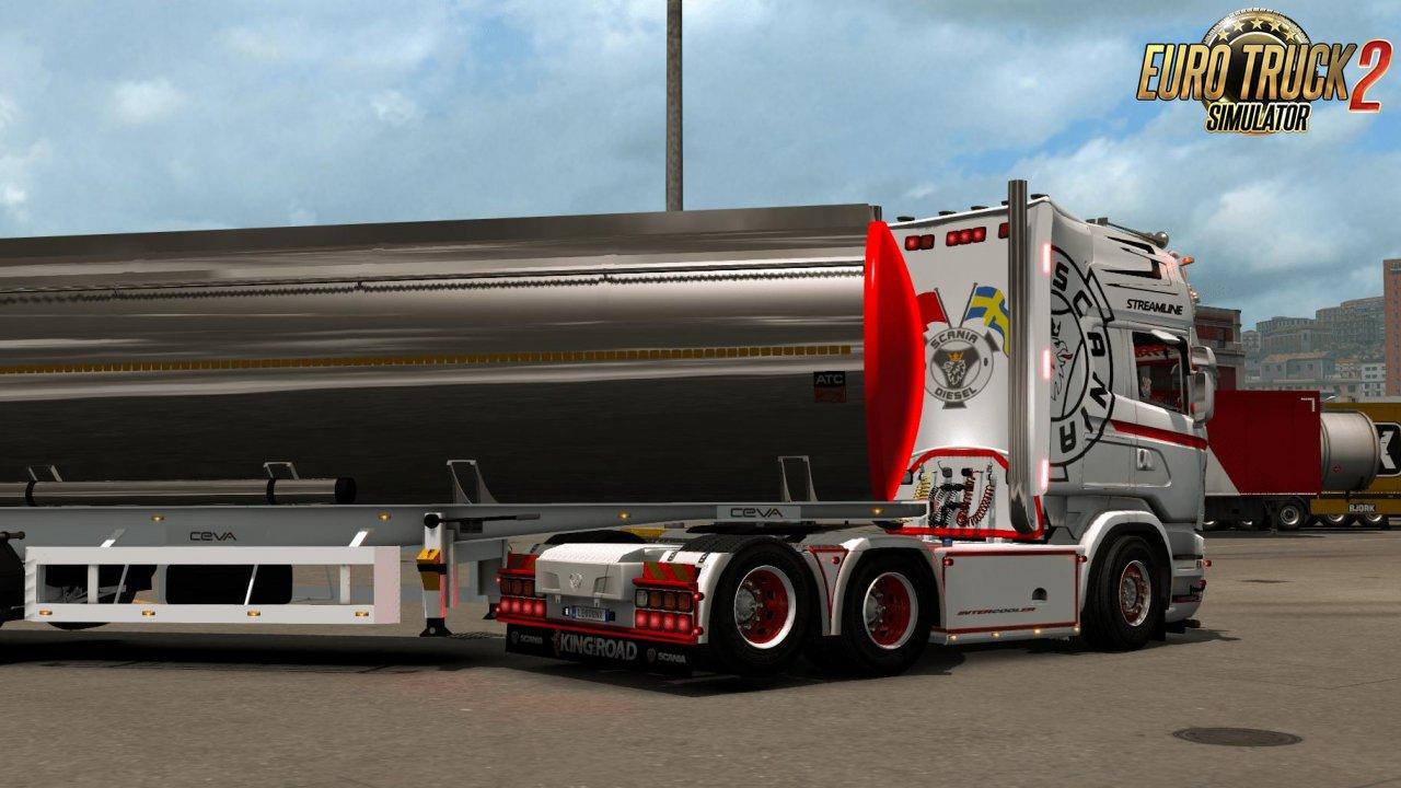 Scania Streamline WhiteRedBlack Skin (1.35.x)