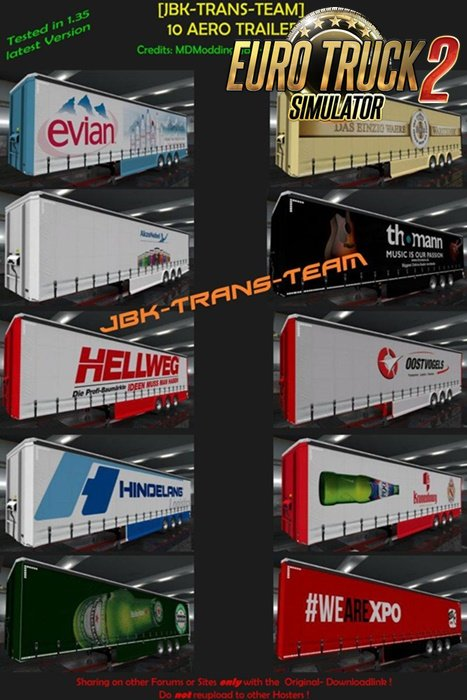 JBK 10 Trailer AERO CURTAIN for Ets2