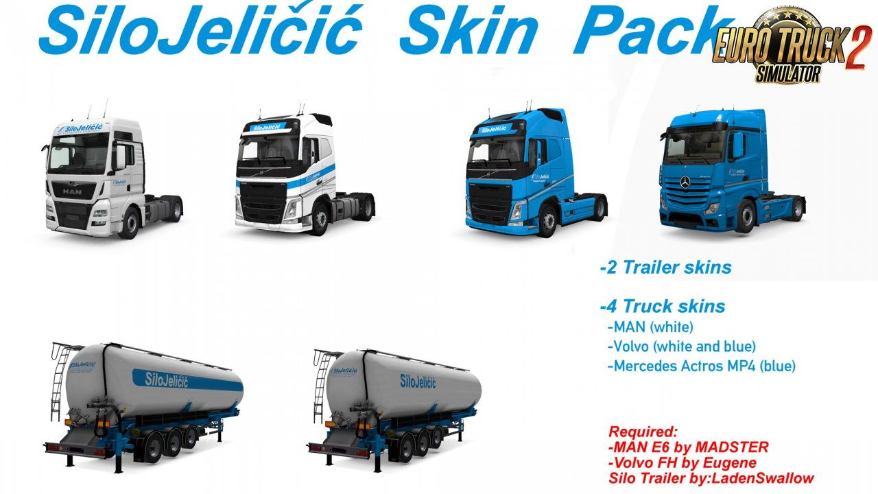 Silo Jelicic Skin Pack for Ets2