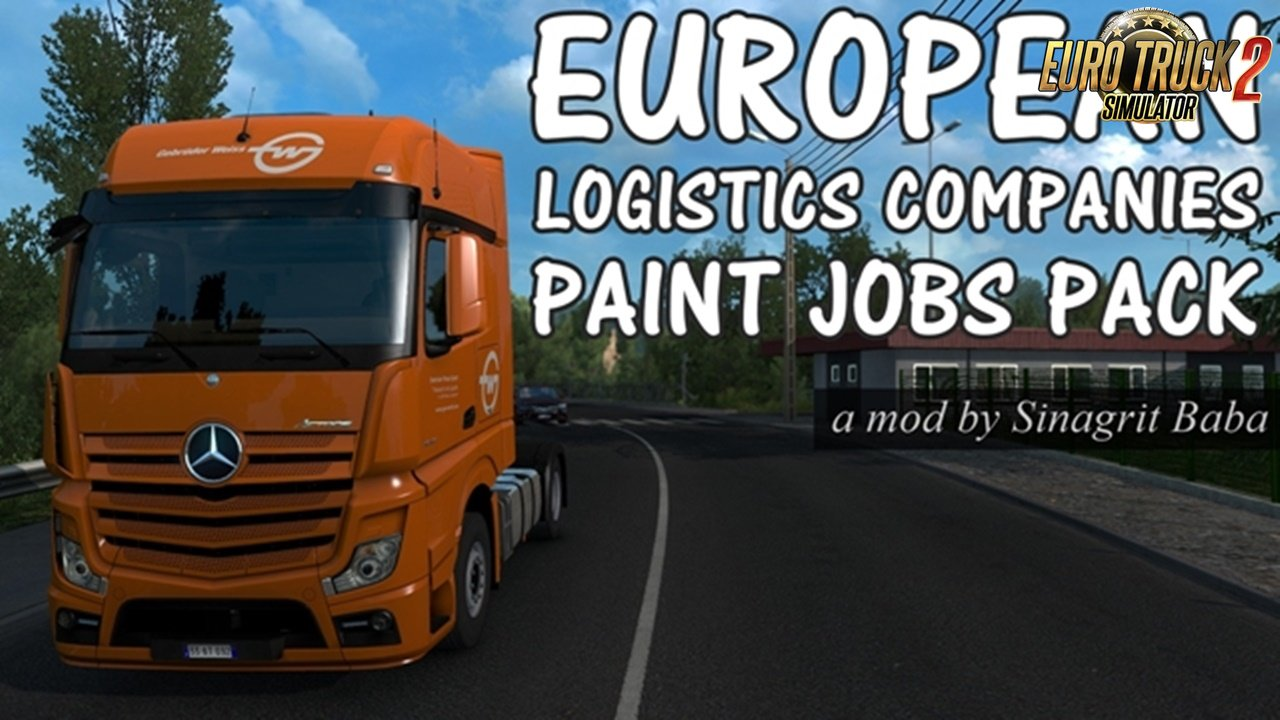European Logistics Companies Paint Jobs Pack v1.4 for Ets2