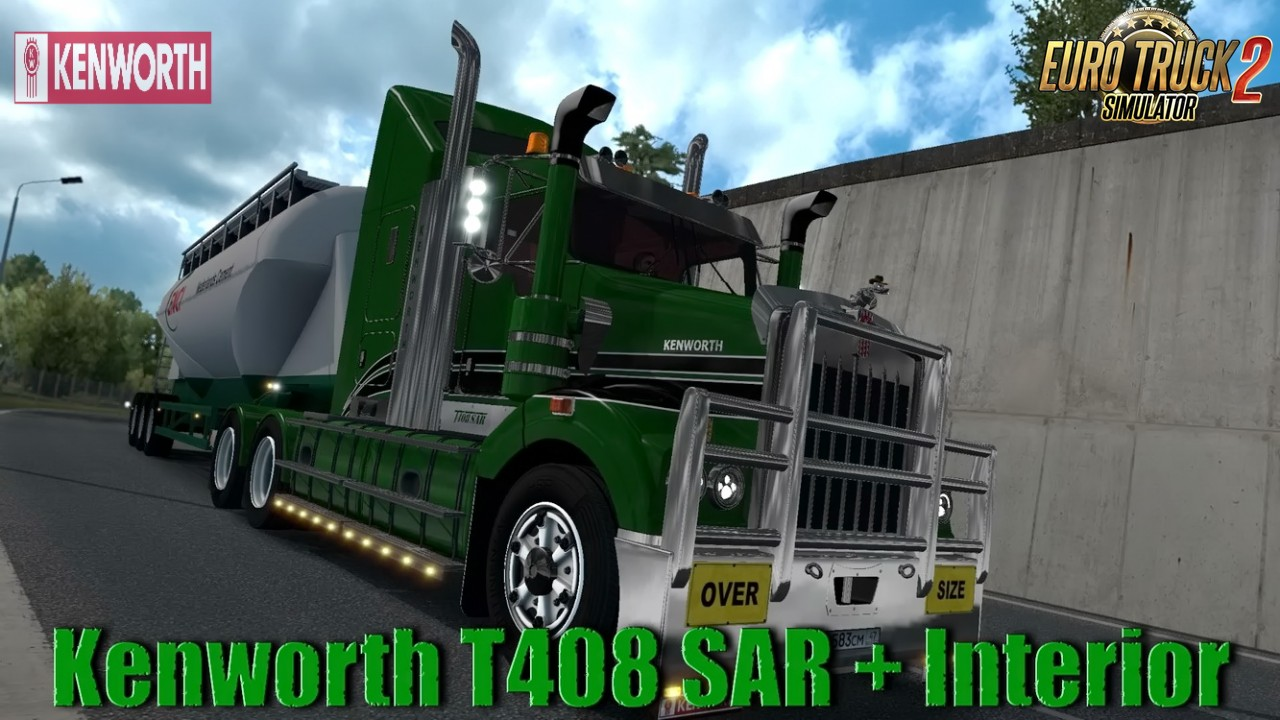 Kenworth T408 SAR + Interior v2.2 (1.35.x)