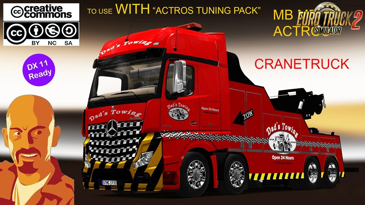 Fixed MB Actros MPIV Cranetruck [1.35.x&Dx11]