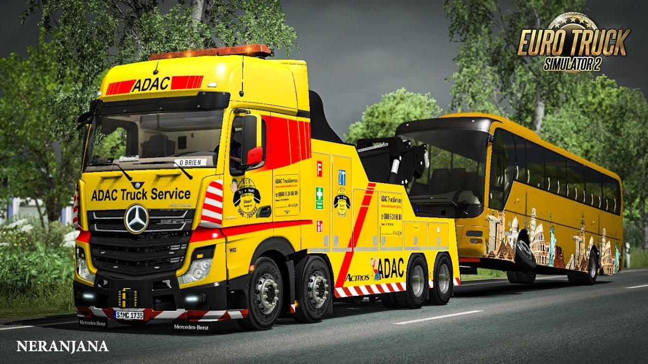Mercedes Benz Actros MP IV Crane - Euro Truck Simulator 2