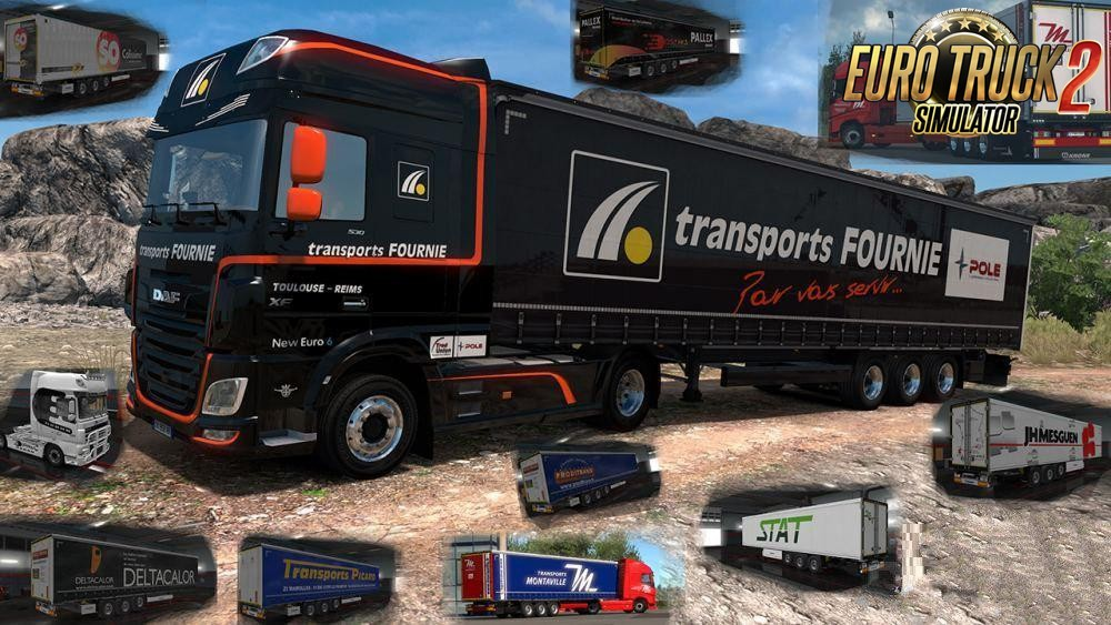 French Truck & Trailers Skins Krone v0.2 (1.35.x)
