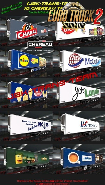 JBK 10 Chereau Trailerpack 2 for Ets2