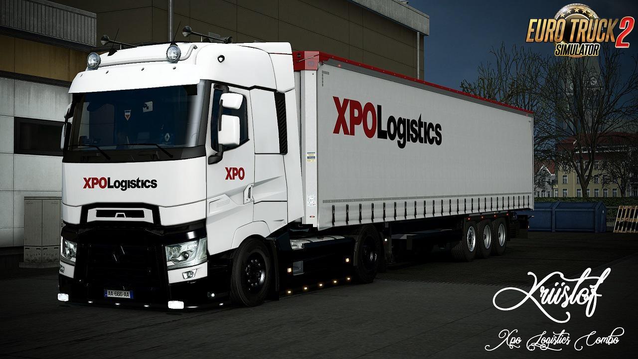 Combo XPO Logistics Skin for Renault Range T + Trailer v1.0