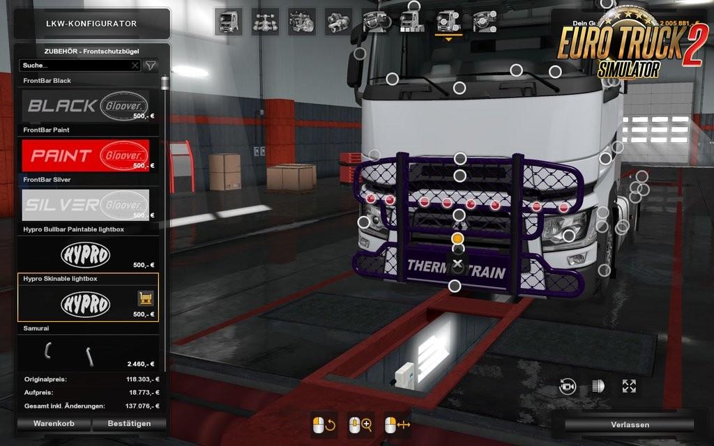 Hypro Bullbar Renault Range T v1.0 for Ets2