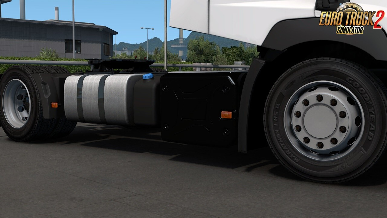 """Realistic exhaust """"cover"""" for Renault Range T v1.0 in Ets2"""