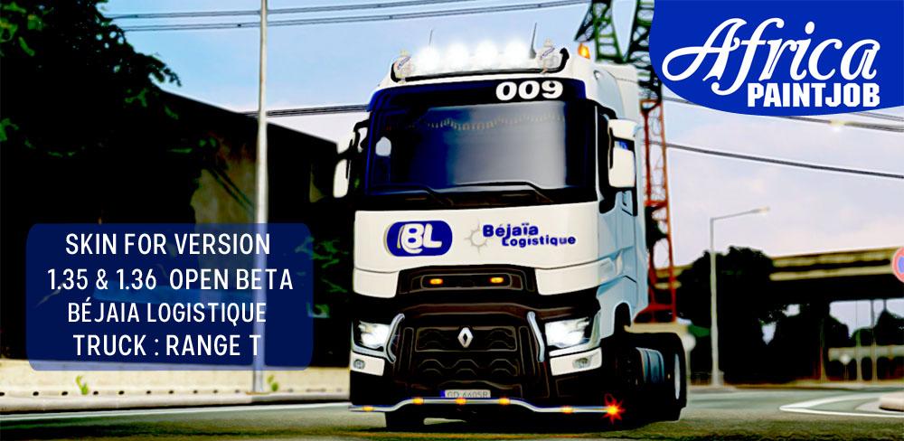 Béjaia Logistique Skin for Renault Range T v1.0 (1.36.x)