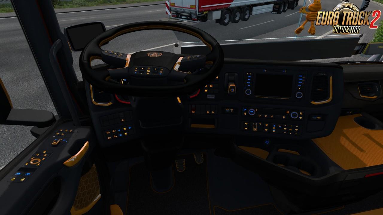 Scania Next Gen R&S Black - Yellow interior