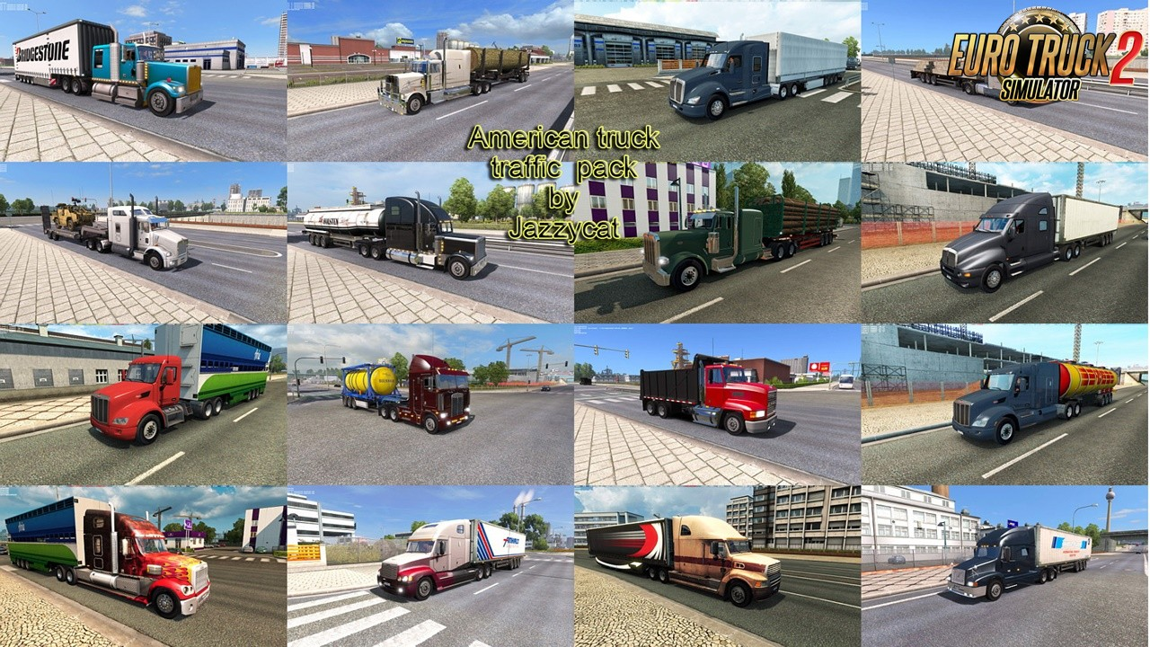 American Truck Traffic Pack v2.1 by Jazzycat