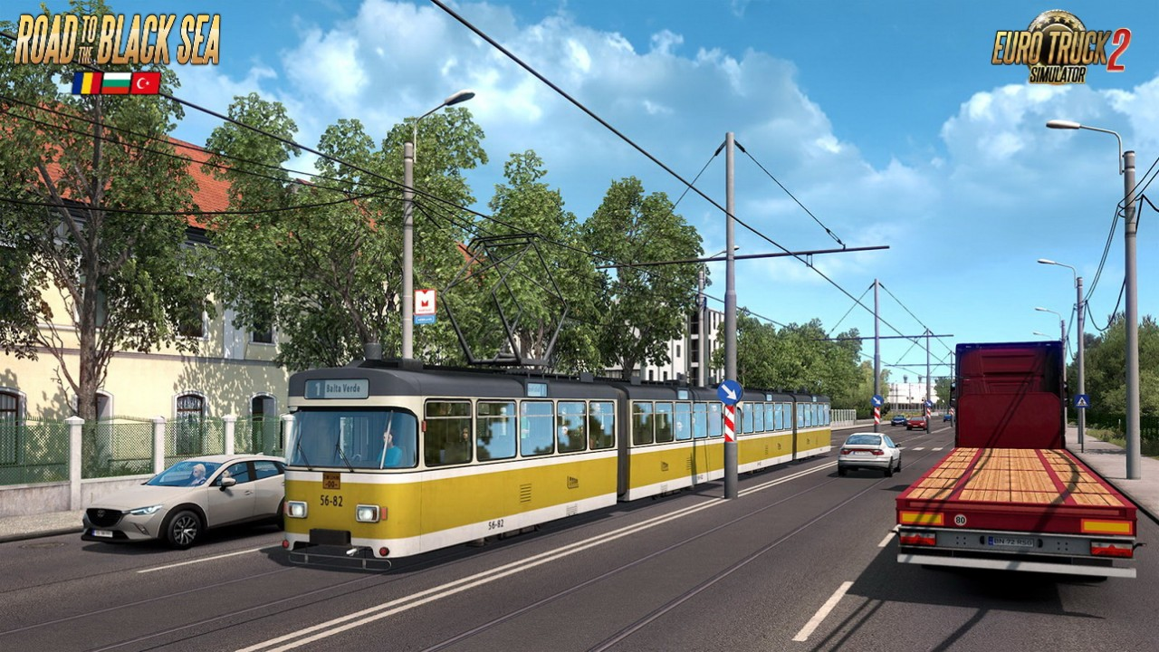 Road to the Black Sea DLC: Trains & Tram in ETS2