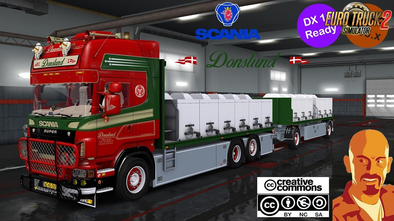 Scania Donslund and Trailer for Ets2 Dx11 (1.36.x)