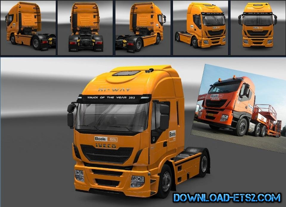 IVECO HI-WAY BOELS RENTAL SKIN by Priester