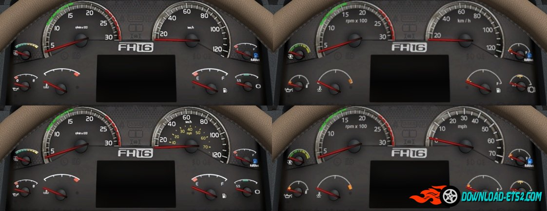 Volvo FH16 2009 HD Gauges and Interior