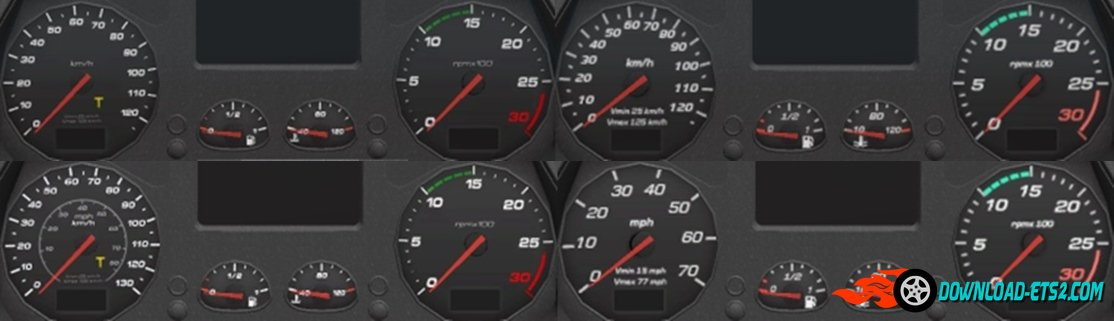 Iveco Stralis Hi-Way HD Gauges and Interior