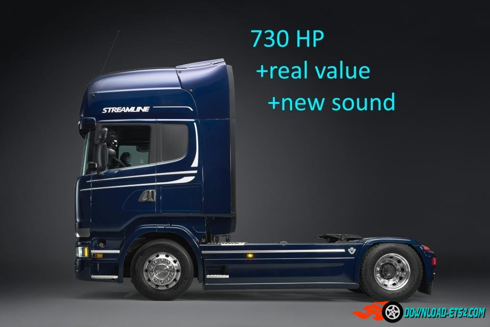 SCANIA R & S730 ENGINE FACTORY SETTINGS AND SOUND V1.1