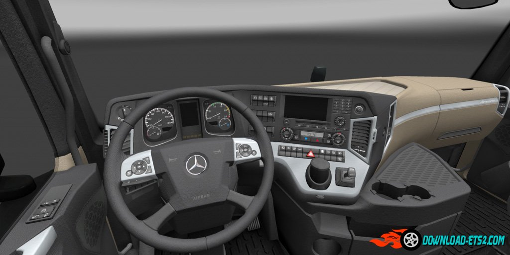 Realistic New Actros interior - 1.2 (Fix)