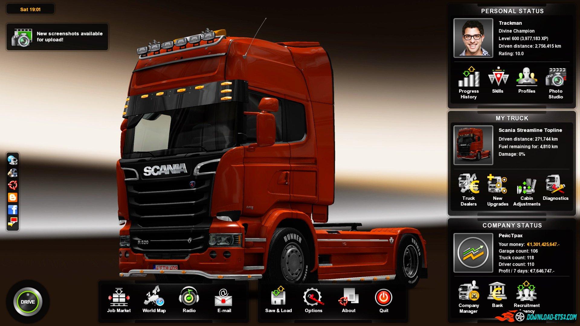 Скачать профиль на euro truck simulator 2.