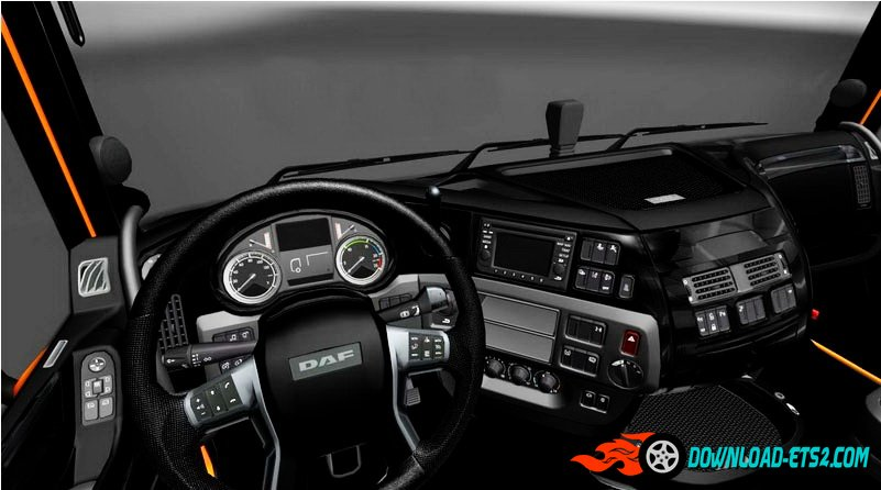 DAF XF Euro 6 Black Interior + Transmission + Interior Lighting v1.0