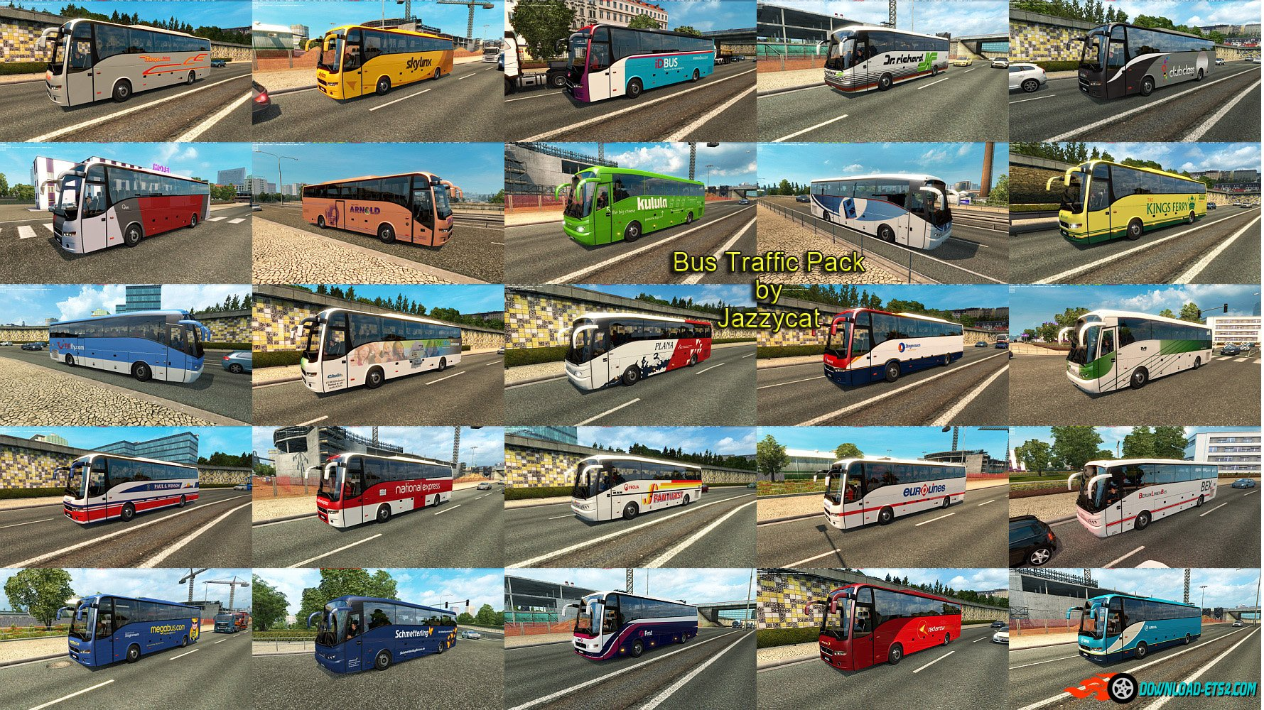 Bus Traffic Pack v 1.3 by Jazzycat