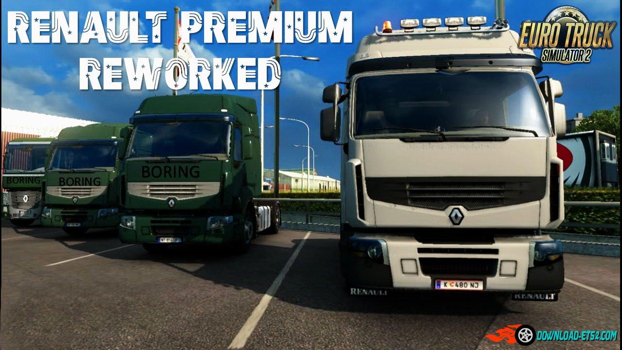 V8 illegal reworked truck v5 0 simulator games mods download - Renault Premium Reworked V2 9 1 24 X