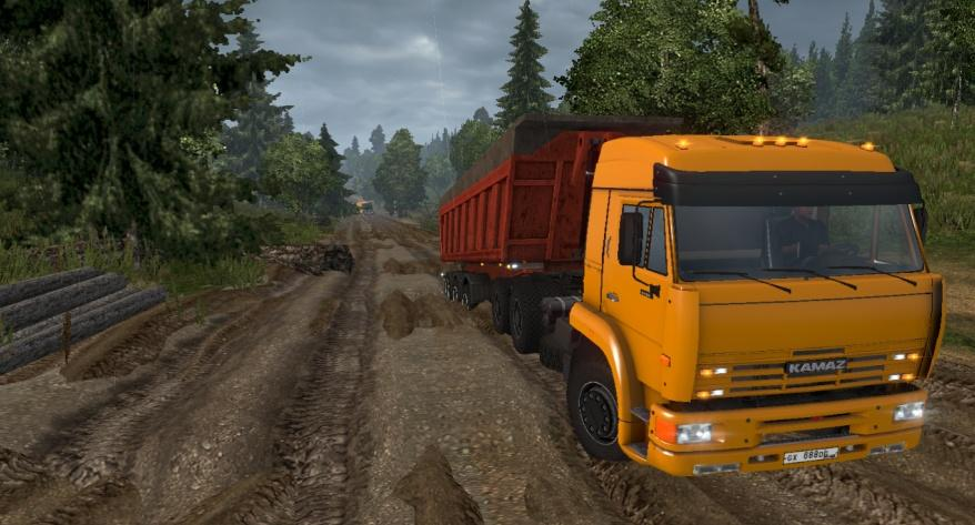 Kamaz 6460 with improved off-road suspension [1.22.x]