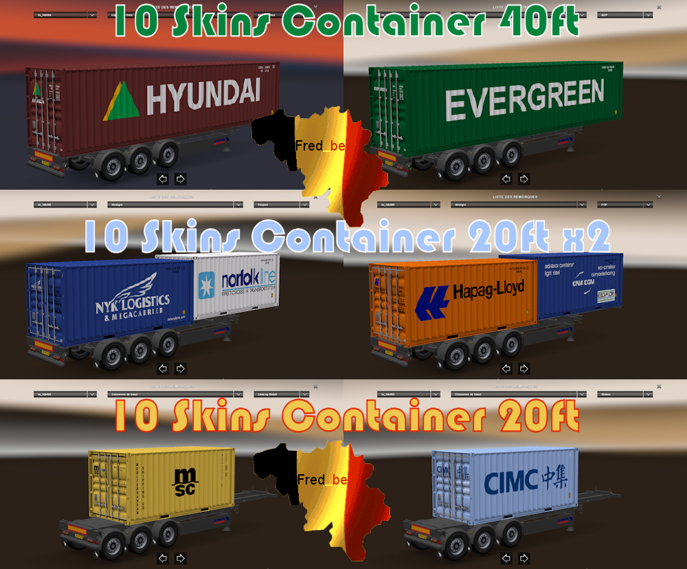 Trailer Pack Container v1.23 ( 30 Skins )