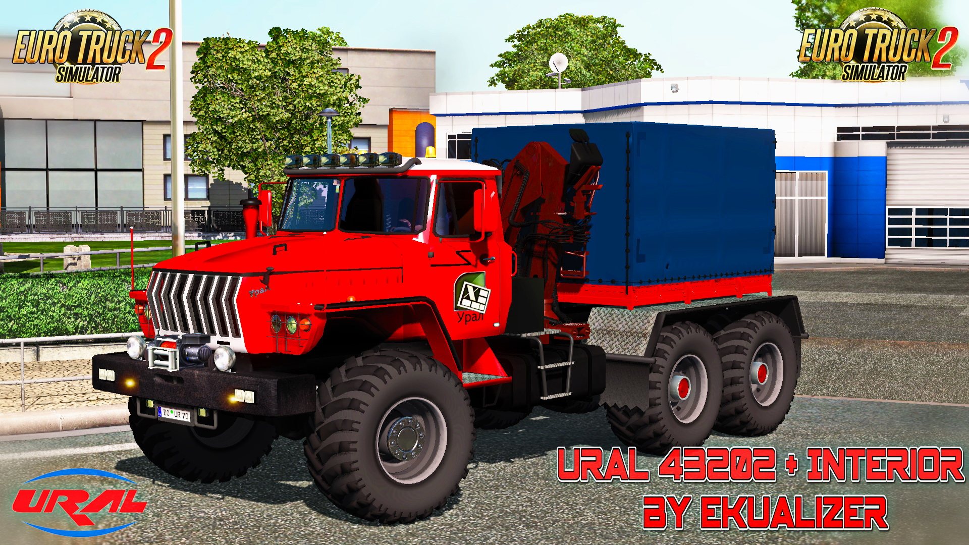 Ural 43202 + Interior + Polar Transport Cargo v3.4 by Ekualizer (1.24.x)
