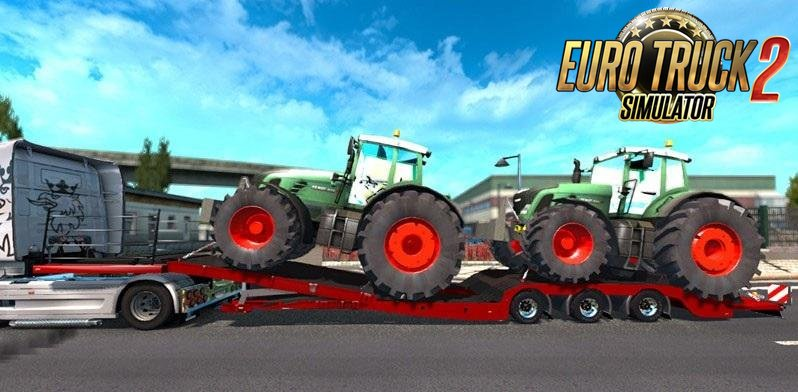 Trailer with 2 Tractors (Fixed)