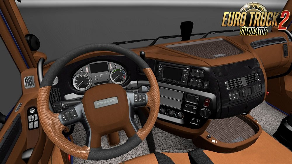 Black Brown Interior for DAF