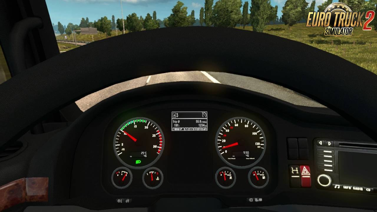 MAN TGX Dashboard Computer with Sound by Piva