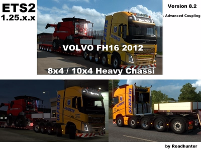 Volvo FH 2012 8×4 and 10×4 Version 8.2 [1.25.x]