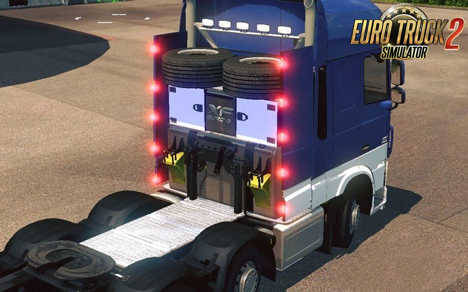 DAF XF Euro 6 8×2 chassis 1.1s [1.25.x]