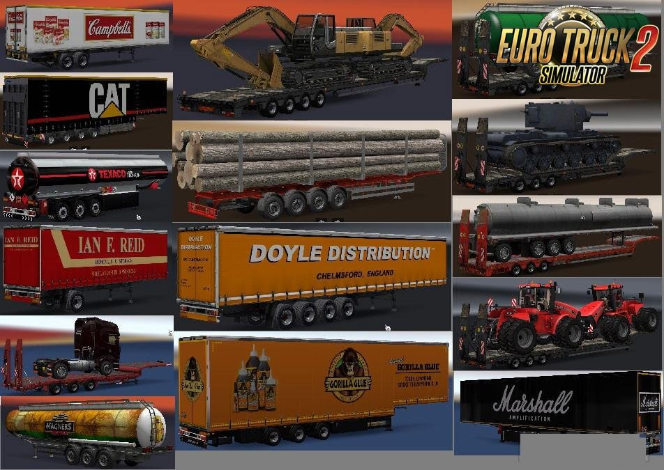 Chris45 Trailers Pack v 8.01 for Ets2