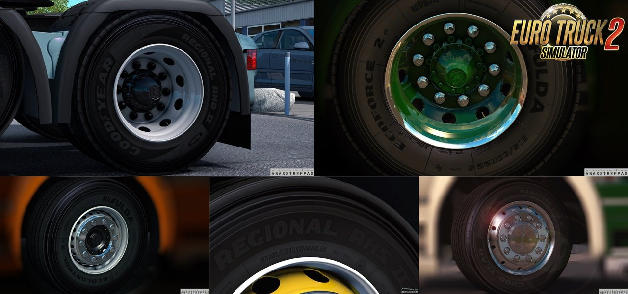 Rims and Tyres by abasstreppas for Ets2