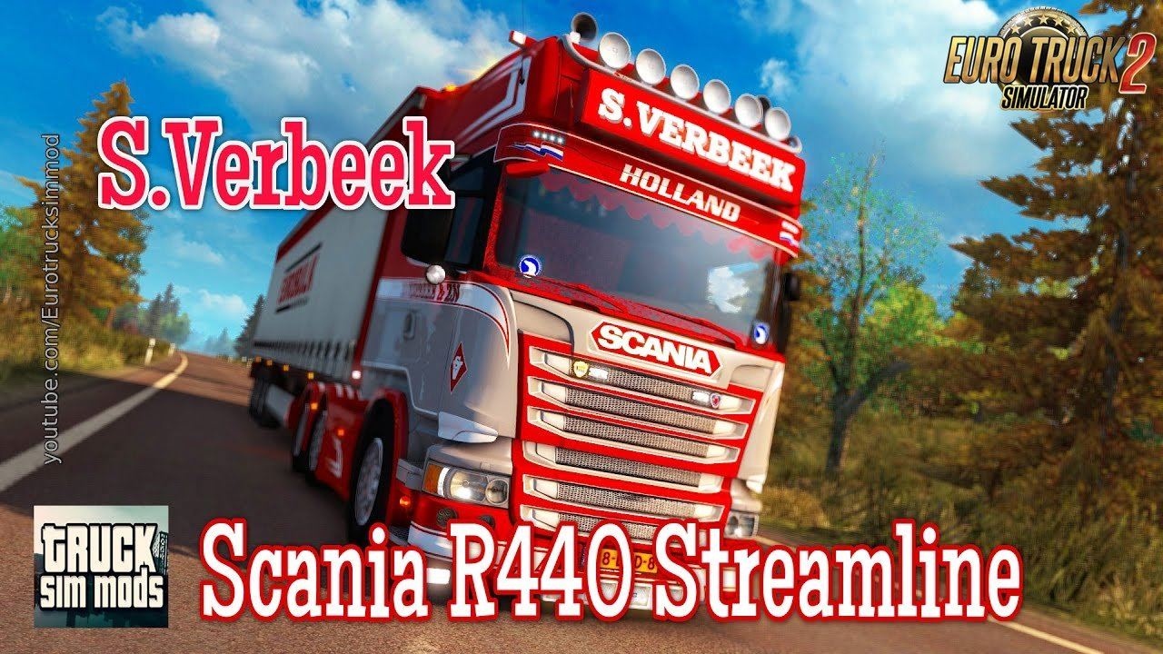Scania R440 Streamline S.Verbeek + Verbeek Trailer