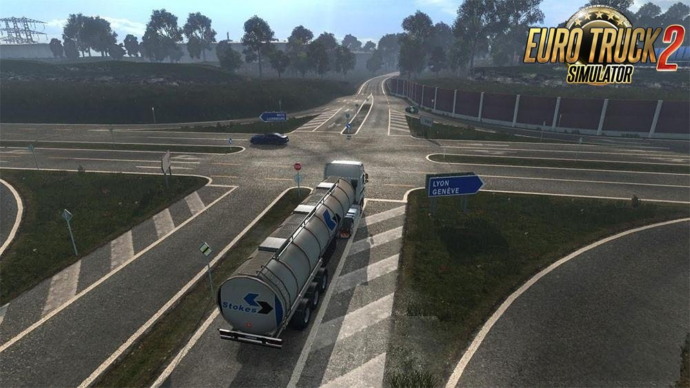 New road HD by Over Game v1.0 for Ets2