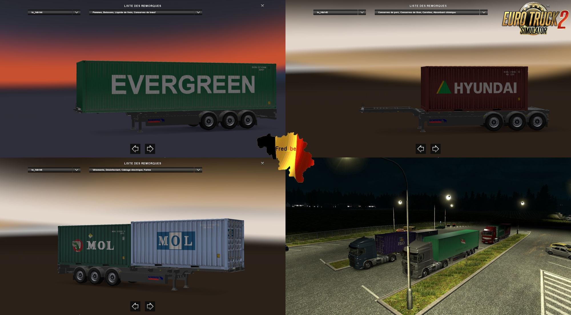Container Trailer Pack #1 v1.25 (Dirty) [1.25.x]
