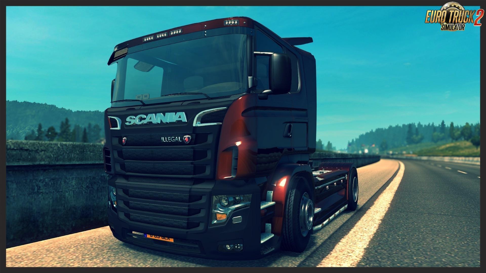 V8 illegal reworked truck v5 0 simulator games mods download - Scania Illegal Truck V8 For Ets2