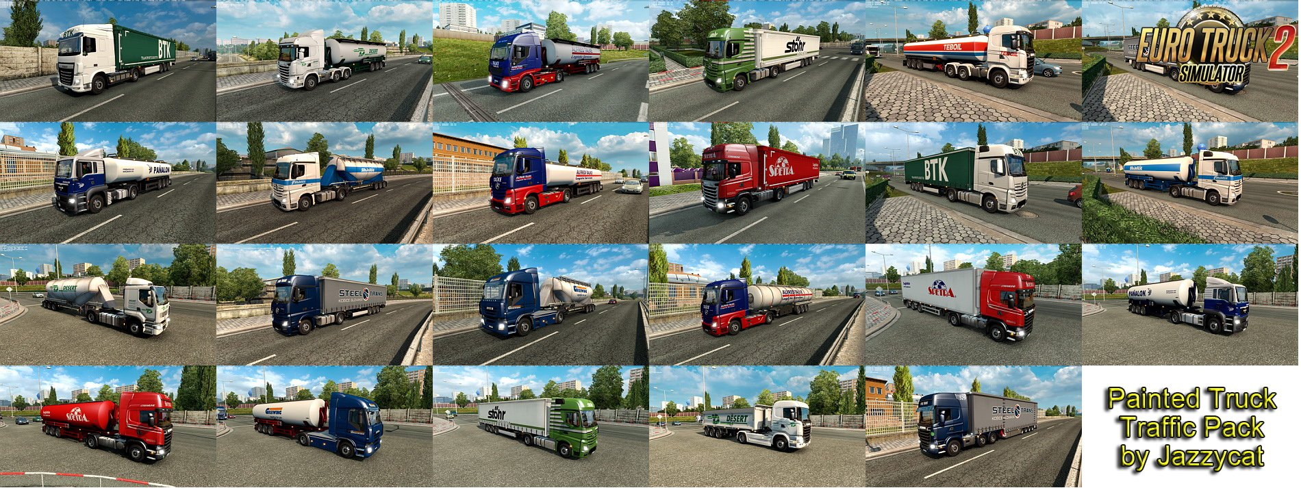 Painted Truck Traffic Pack v2.7 by Jazzycat [1.26.x]