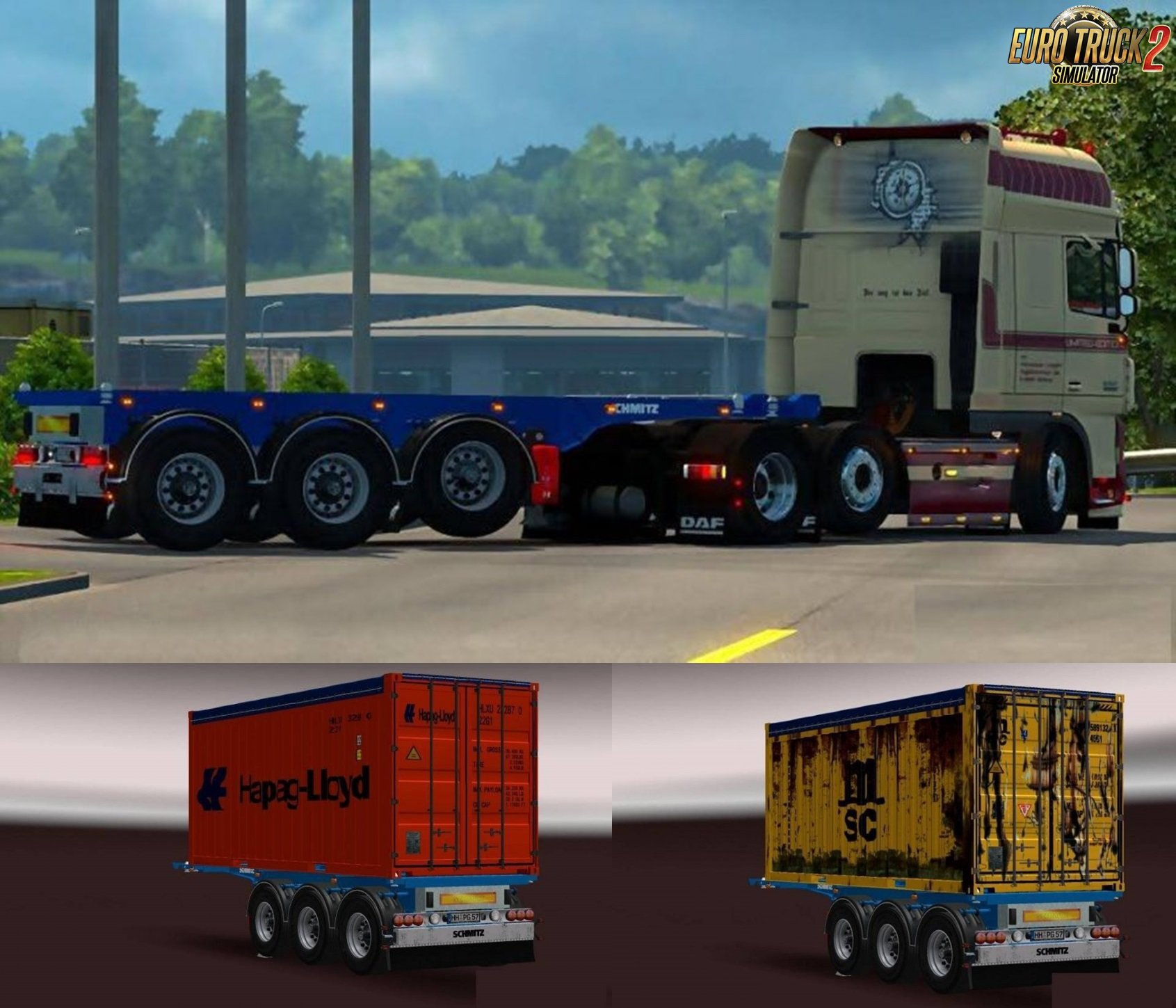 Schmitz 20ft Open Top Container Pack (Update) v1.3