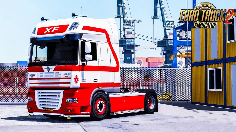 Red &White Skin for Daf XF 105 v1.0 by DarWen (1.26.x)
