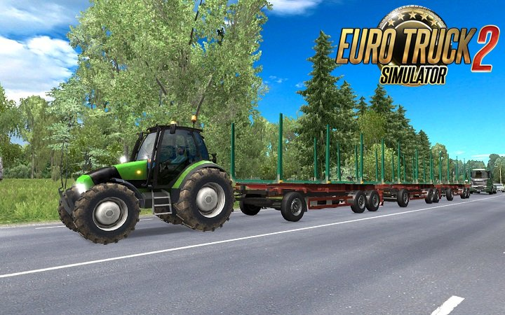 Tractor with trailers in traffic  v3.0 [1.26.x ]