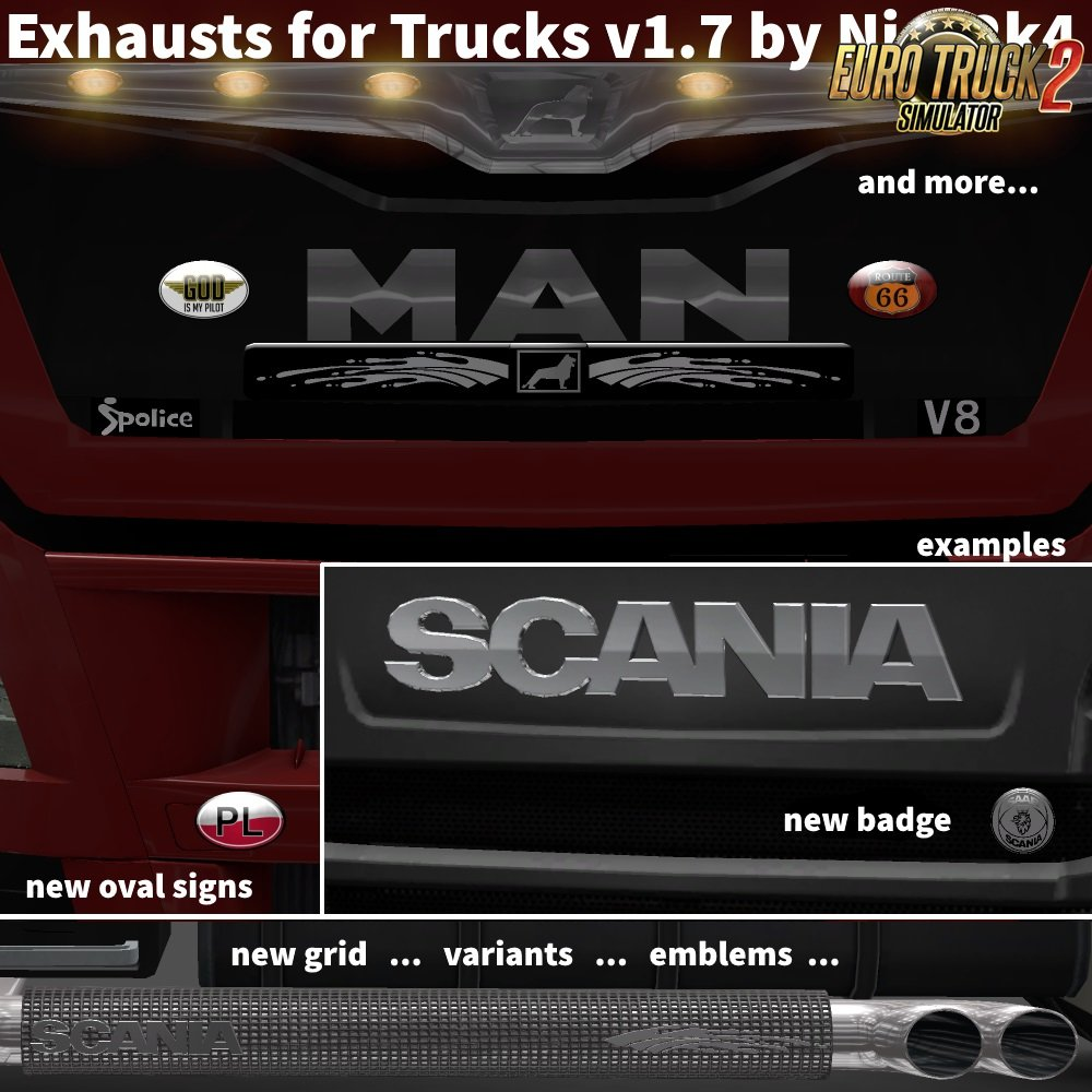 Exhausts for Trucks v1.7 by Nico2k4 [1.26.x]