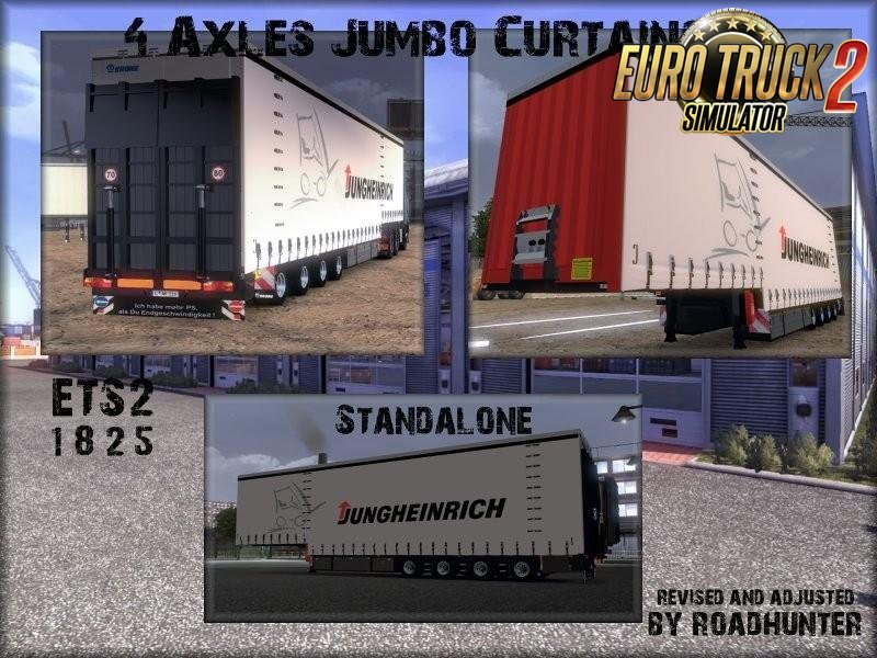 Trailers Krone 4 Axles Jumbo Curtainsider v9.0 (1.26.x)