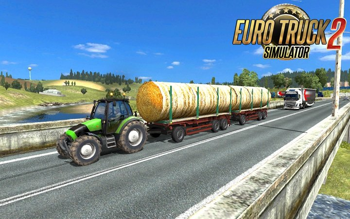 Tractor with trailers in traffic v3.6 (Full)