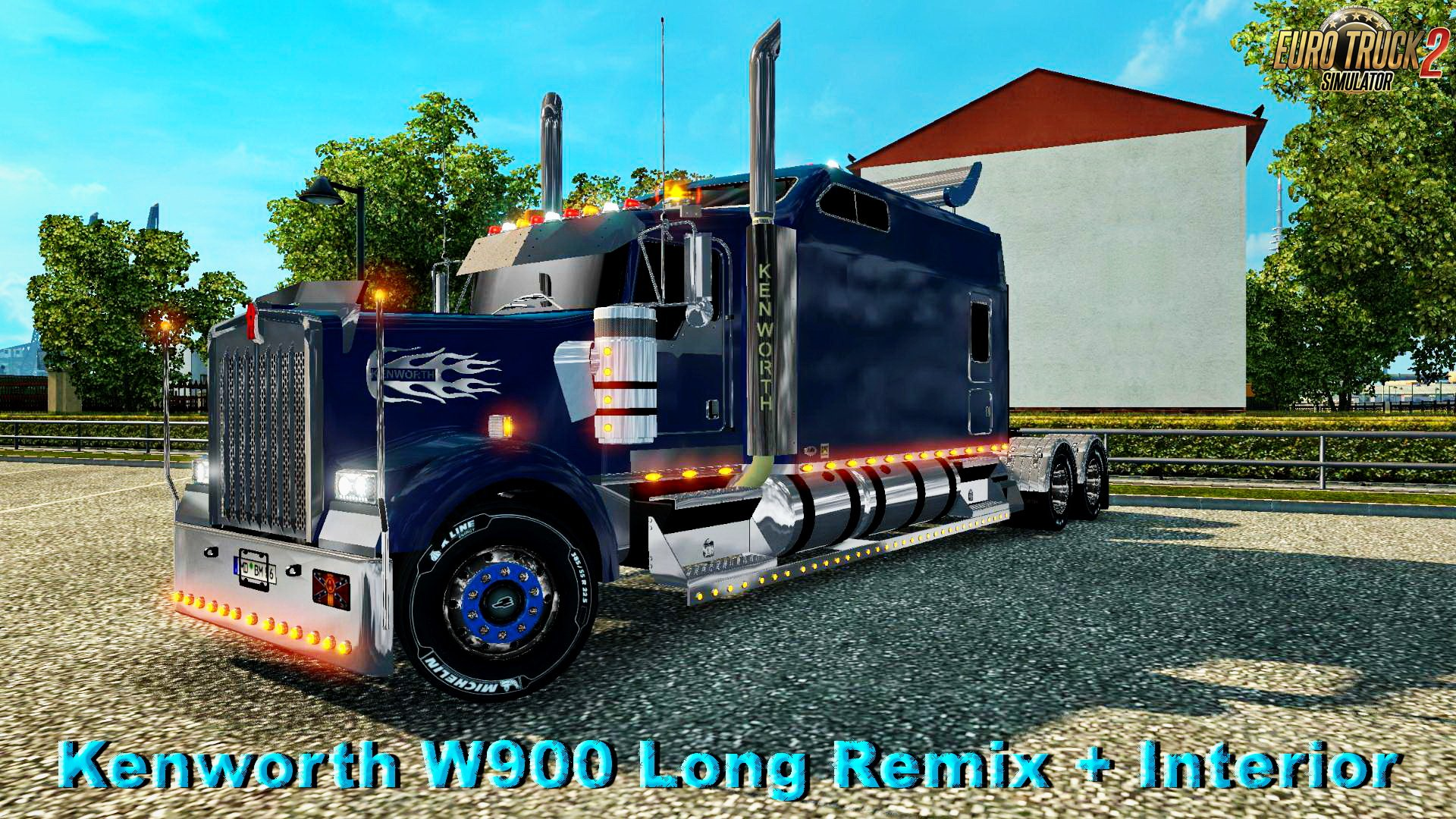 Kenworth W900 Long Remix + Interior v1.0 (1.26.x)